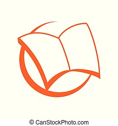 Wide Open Book Symbol Logo Design