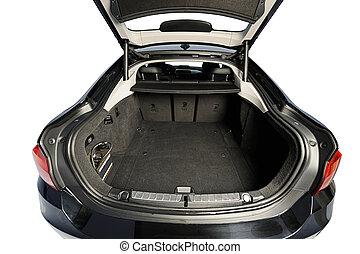 Wide open car trunk