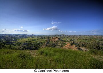 Wide open prairie - Wide open space across the prairie in...