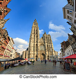WIde panorama Antwerp - Beautiful wide angle view of the...