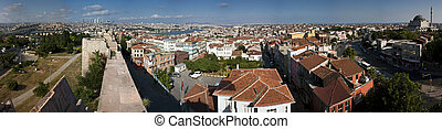 Wide panorama of Istanbul, Turkey