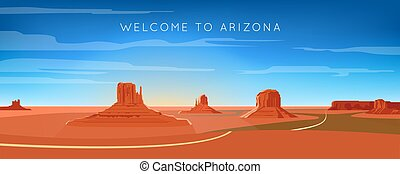 Wide panorama of monument valley landscape