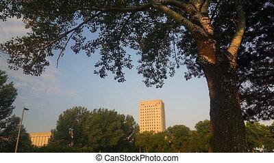 Wide Panoramic North Dakota Capital Building Bismarck -...