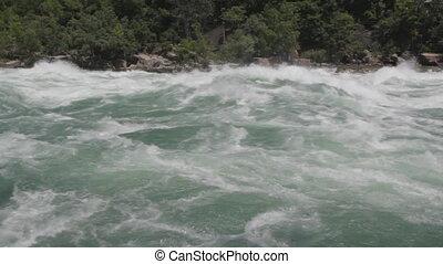 wide., rivière, niagara, rapids.