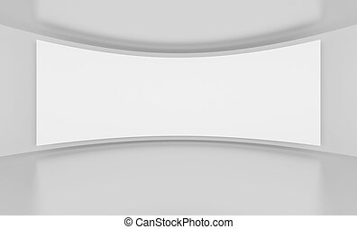 Wide Screen - 3d Illustration of Wide Screen or Background