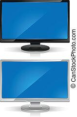 Wide-screen monitors - Black and white wide-screen monitors