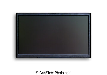 wide screen TV isolated with clipping path