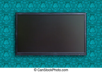 wide screen TV with clipping path