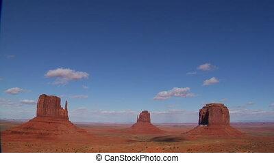wide shot of Monument Valley Utah