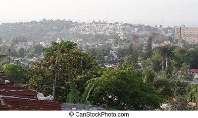 wide shot of Port-au-Prince Haiti