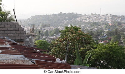 wide shot of Port-au-Prince Haiti