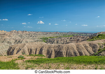 Wide shot of the Badlands