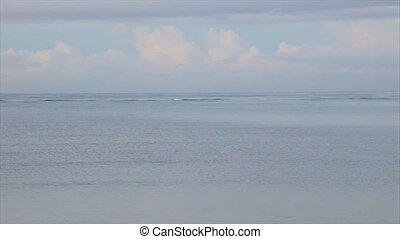 Wide shot of the ocean