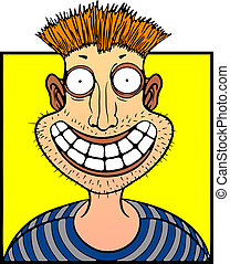 caricature portrait of red-haired men