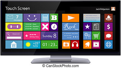 Wide TouchScreen Monitor with Metro interface - Wide Touch...