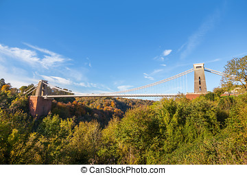 Clifton Suspension Bridge - Wide view of Clifton Suspension...