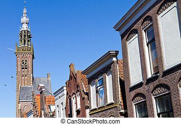 Edam church - wide view of Edam church in holland