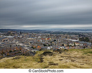 Wide view of Edinburgh skyline, long exposure - Ultra long ...