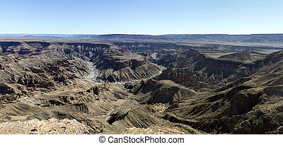 Wide view of fish river canyon