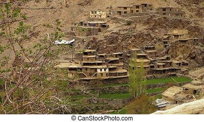 Wide view of Hundarman ghost village, Kargil - Wide...