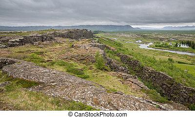 National Park of Thingvellir in Iceland