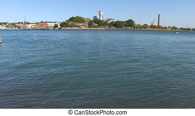 Wide view of pier shot - A wide shot of clear skies and...