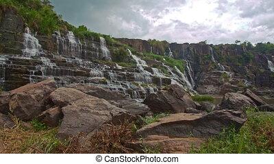Wide View of Waterfall Cascade Panagarh in Vietnam