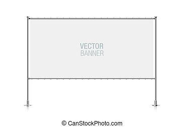 Wide white banner.