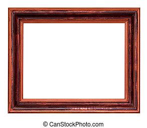 wide wooden dark brown picture frame