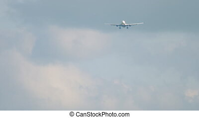 Widebody aircraft approaching - Widebody airplane...