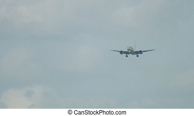 Widebody aircraft approaching