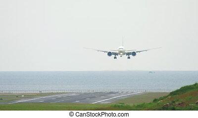 Widebody aircraft landing - Widebody airplane approaching...