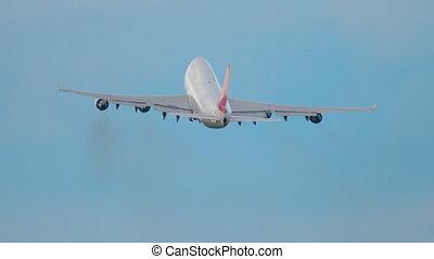 Widebody airfreighter climb - Widebidy cargo airplane...