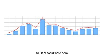 Widescreen abstract financial graph background