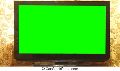 Widescreen HDTV with Green Screen. Home