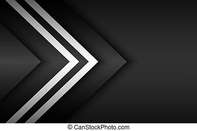widescreen, nowoczesny, abstrakcyjny, biały, tekst, czarnoskóry, strzały, twój, tworzywo, projektować, miejsce, wektor, tło, overlayed