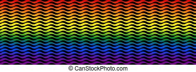 Widescreen rainbow background.