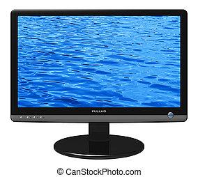 widescreen, tft, display