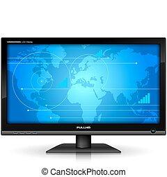 widescreen, tft, textanzeige