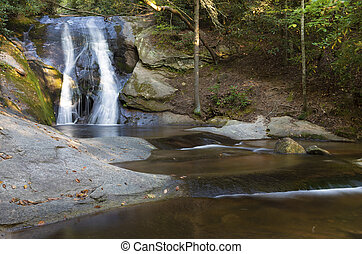 Widow Falls in North Carolinas Stone Mountain State Park
