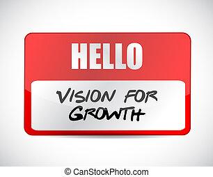 widzenie, dla, wzrost, nazwijcie skuwkę, znak, handlowe pojęcie