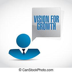 widzenie, dla, wzrost, znak, handlowe pojęcie