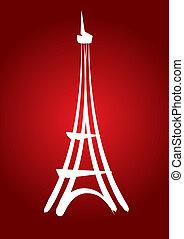 wieża, eiffel, abstrakcyjny