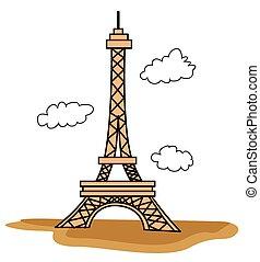wieża, eiffel