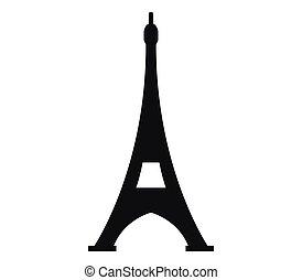 wieża, eiffel, ikona
