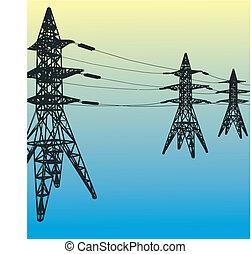 wieża, elektryczny