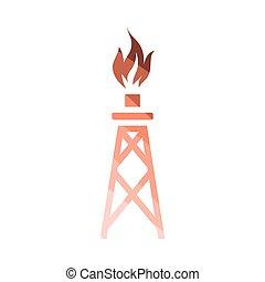 wieża, gaz, ikona