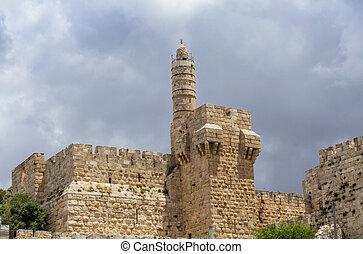 wieża, jerozolima, dawid