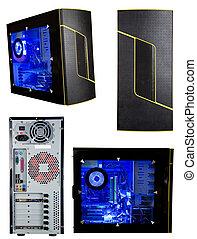 wieża, komputer, odizolowany