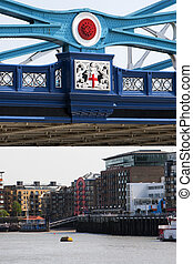 wieża most, od, londyn, znak